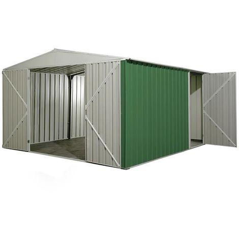 Garage deposito lamiera Box in Acciaio Zincato 360x430cm x h2.10m - 185KG - 15mq