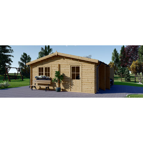 Garage en bois Alternative 600x600 44mm, 36m² DOUBLE