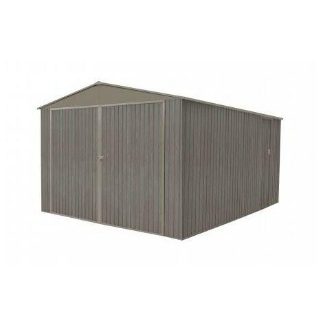 Garage en métal aspect BOIS VIEILLI® - 18,24 m²