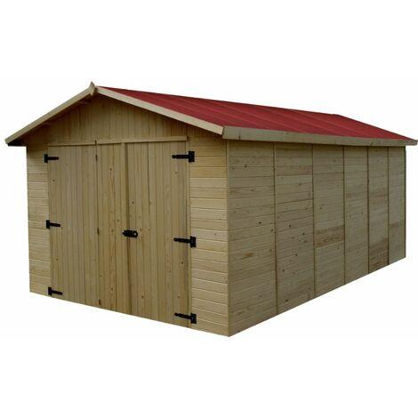 Garage en panneaux de bois - 13,20 m²