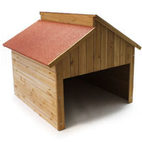 Garage for automower wood for all commonly used lawn mowers Garage for automatic lawn mower