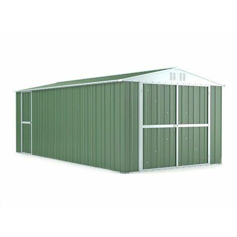 Garage lamiera Box auto in Acciaio Zincato 327x611cm x h2.35m - 346KG – 19mq - VERDE