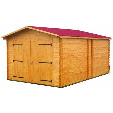 Garage madriers massifs 28 mm / 17,19 m2