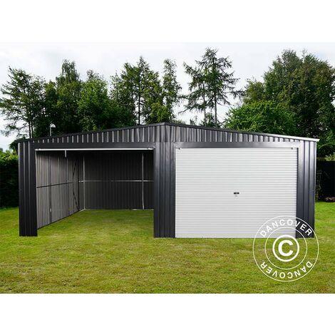 Garage métallique double 6,37x5,13x2,41m ProShed®, Anthracite