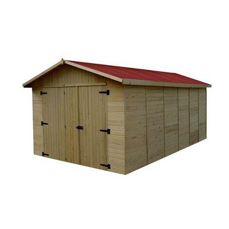 Garage panneau bois massif 15.60 m²