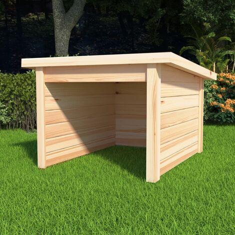 Garage pour tondeuse a gazon 92x104x59,5 cm Pinede solide 19 mm