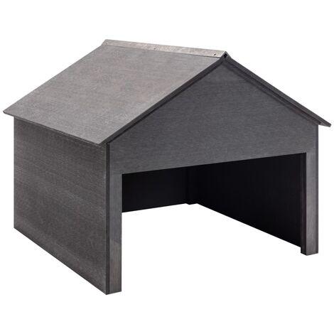 Garage pour tondeuse à gazon Gris 80x80x70 cm WPC