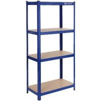 Garage Racking 4-Tier Shelving(130KG per Shelf)/5-Tier Shelving(130KG/265KG per Shelf), Heavy-Duty Boltless Racking with MDF