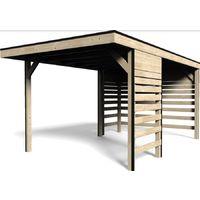garage rimessa in legno carport dimensioni 300x480 h 237 cm
