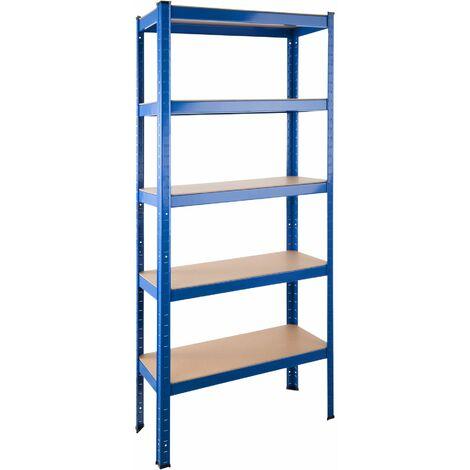 Garage shelving unit 5 tier - metal shelving, garage storage, shed shelving