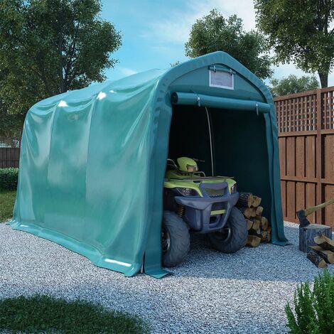 Garage Tent PVC 2.4x3.6 m Green