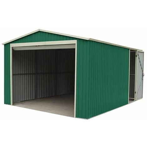 Garage Voiture Métallique Gardiun Leicester - 17,3 m² Extérieur 512x338x243 cm