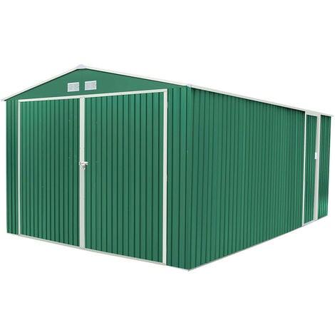 Garage Voiture Métallique Gardiun Oxford (Vert) - 20,5 m² Extérieur 540x380x232 cm