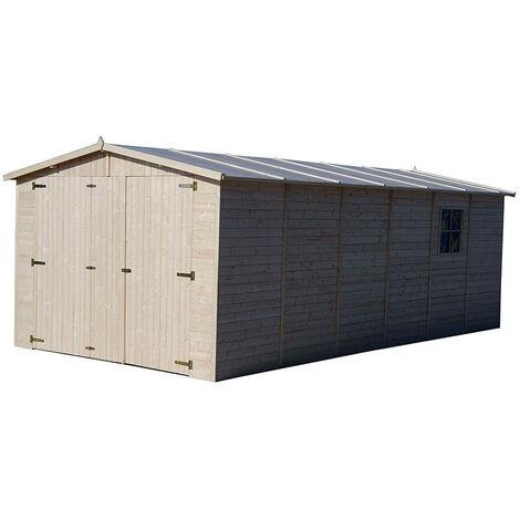 Garaje de Madera Gardiun Mikhail II 20 m² Exterior 616x324x192/222 cm - KT12888