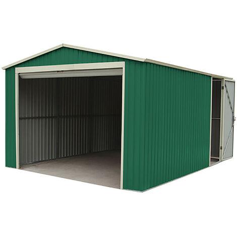 Garaje de metal con puerta enrrollable