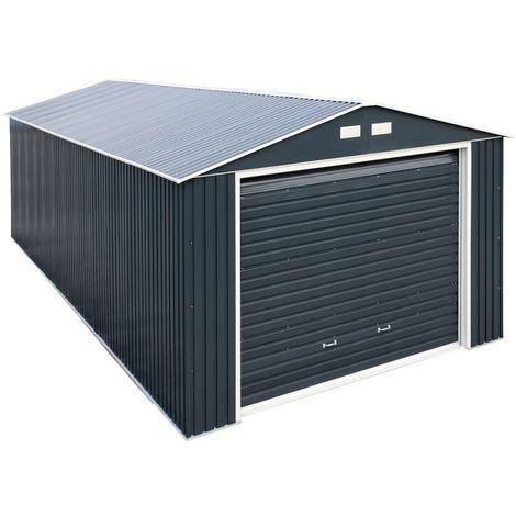 Garaje de metal es perfecto para almacenar grandes vehículos 4X4.