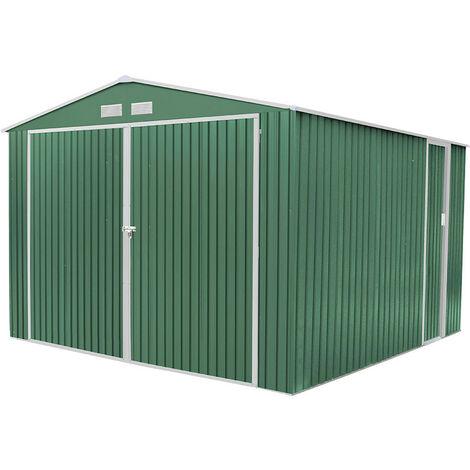 Garaje de metal verde Gardiun