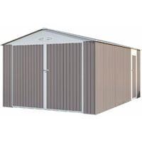 Garaje en metal Nevada con puerta abatible - 15,36 m²