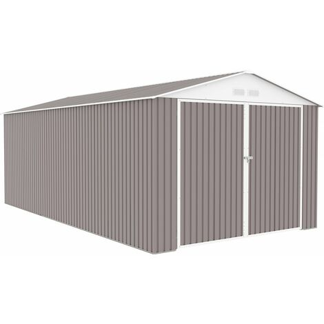 Garaje en metal Nevada con puerta abatible - 18,56 m²