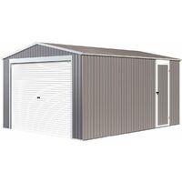 Garaje en metal Nevada con puerta enrollable - 15,61m²