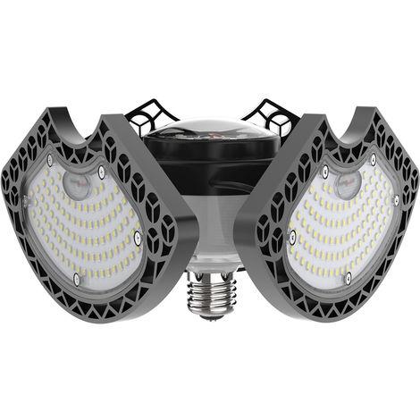 Garaje LED luces, luces de techo de 50W LED, E26 deformable