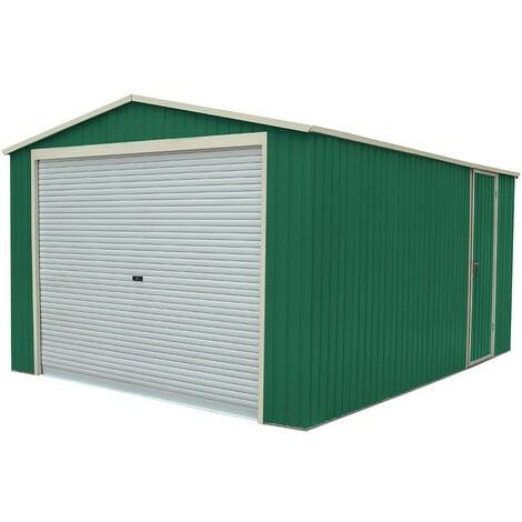 "main image of ""Garaje Metálico Gardiun Essex 19,5 m² Exterior 576x338x243 cm Verde - KIS12893"""