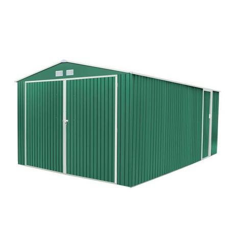 Garaje metálico Oxford verde 530 x 370 x 222 cm