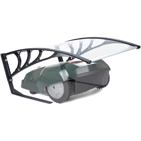 Garaje para robot cortacésped, Protección solar, Cubierta, Policarbonato, 47x82x102 cm, 1 Ud., Transparente