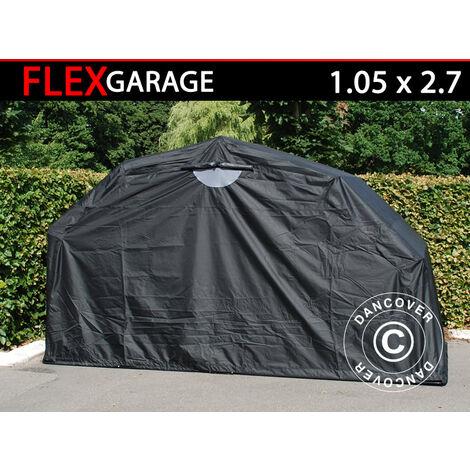 Garaje plegable (MC), 1,05x2,7x1,57m, Negro