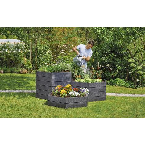 Garantia 1 set Jardinière surélevée Ergo - hauteur 25 cm - anthracite