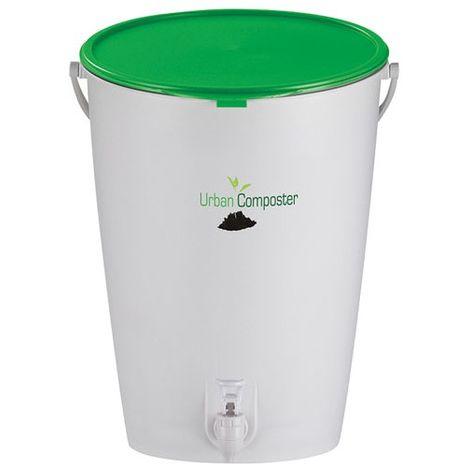 GARANTIA - Composteur Urban 2 en 1 - 15 L - couvercle vert