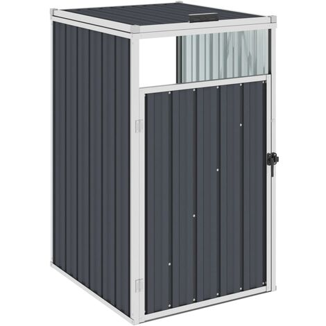 Garbage Bin Shed Anthracite 72x81x121 cm Steel - Anthracite
