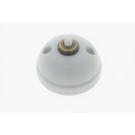 GARBY Bouton poussoir Porcelaine Blanche 10A-250V - Fontini