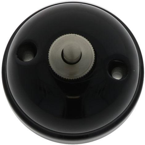 GARBY Bouton poussoir Porcelaine Noire 10A-250V - Fontini