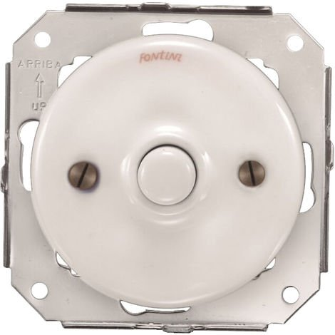 GARBY COLONIAL - Poussoir Porcelaine Blanche Réf. 31310173 - FONTINI