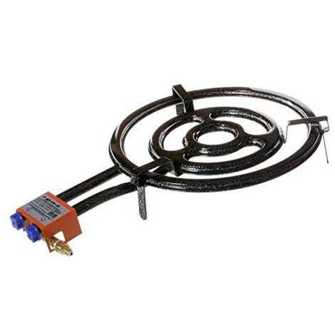 Garcima 76050 Hornillo paellero Gas Plano l-50 2 Fuegos, Negro, 51.00x75.50x12.00 cm