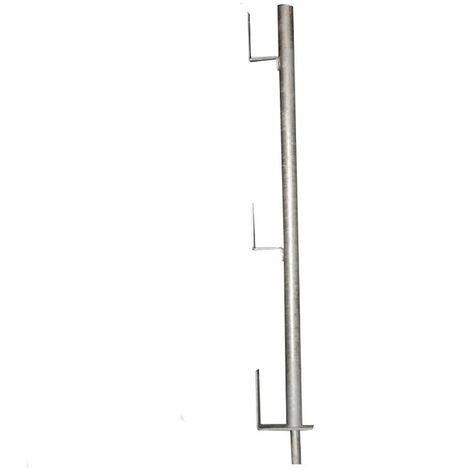 Garde-corps de réservation à planche galvanisé - Ø 40 mm