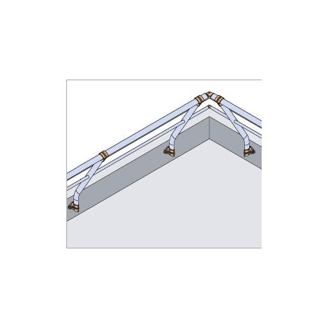 Garde-corps - Fixé en applique - Incliné + Main courante et sous-lisse (plusieurs tailles disponibles)
