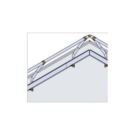 Garde-corps - Fixé en applique - Incliné + Main courante - sous-lisse et plinthe (plusieurs tailles disponibles)