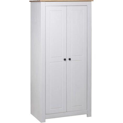 Garde-robe Blanc 80x50x171,5 cm Pin massif Assortiment Panama