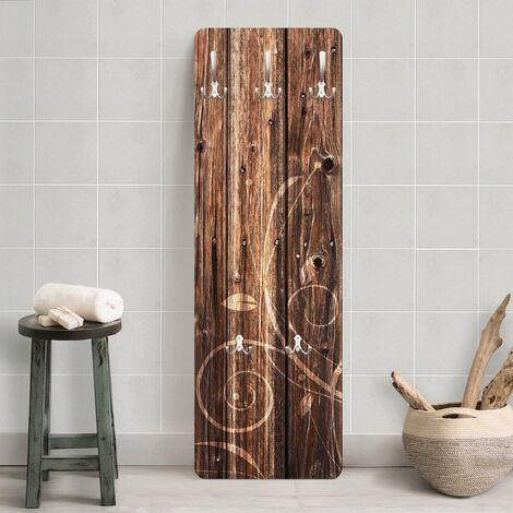 Garde robe floral de clôture en bois - Dimension: 139cm x 46cm