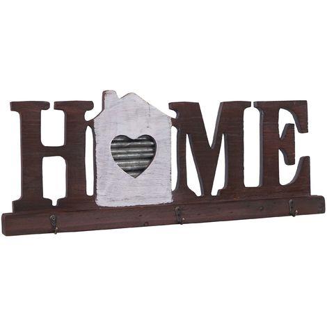 Garde-robe murale HHG-383 Home, planche vestiaire, style chalet, bois, métal