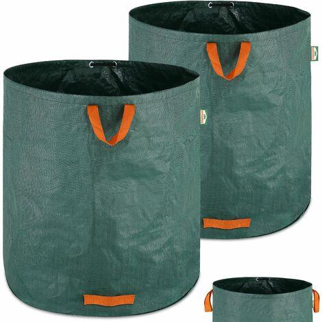 """main image of """"GARDEBRUK - 2x Sacs de jardin 500L 50 kg sac de déchets ordures végétaux tissu renforcé pliable hydrofuges sac"""""""