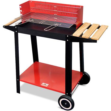 Gardebruk Barbecue Charcoal BBQ Wagon Cart on Wheels