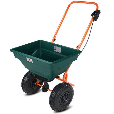 Gardebruk Carro esparcidor todoterreno con ruedas capacidad de 20L carga máx 25 kg jardín abonadora polivalente semillas
