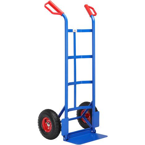 Gardebruk Hand Truck Foldable Up to 200kg Pneumatic Tires Grab Handles Cart Transport Cart Hand Truck