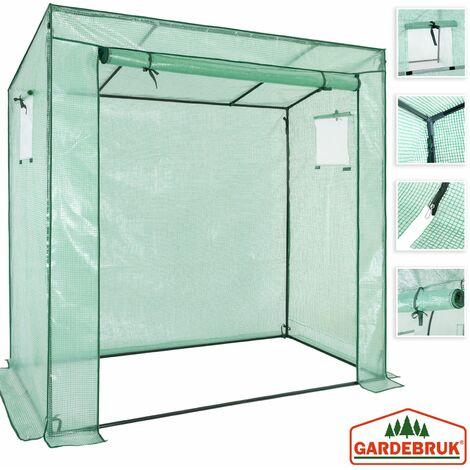 Gardebruk Invernadero 1,6m² con lona 200x173x80cm vivero de jardín con puerta y ventanas huerto exterior plantas verduras