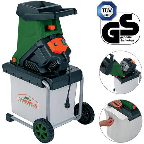 Gardebruk Messerhäcksler   2500W   elektrisch   max. 40 mm Aststärke   50L Auffangbox   Gartenhäcksler Häcksler Schredder