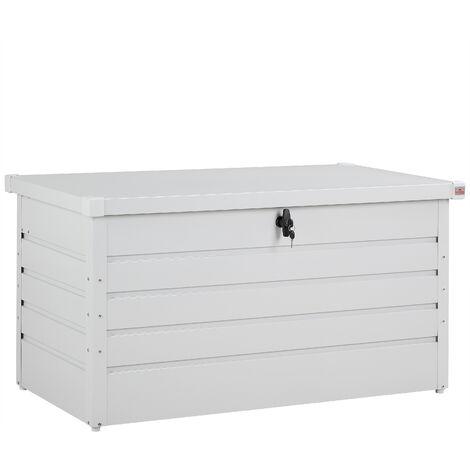 Gardebruk Metal Cushion Box Garden Box Paddings Lockable 360L Storage Chest Gas Pressure Spring