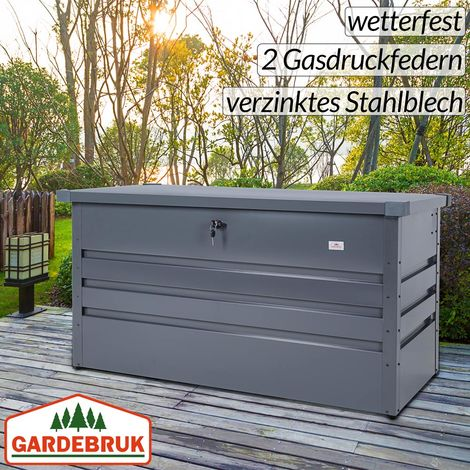 Gardebruk Metall Auflagenbox 360l Abschließbar Gasdruckfeder